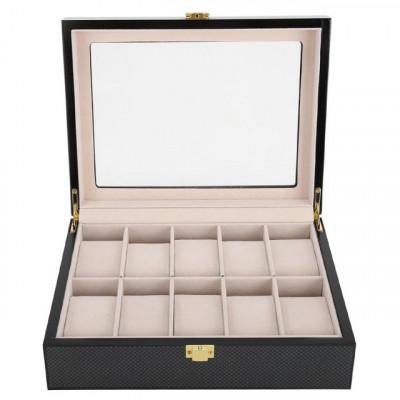 Cutie caseta din lemn pentru depozitare si organizare 10 ceasuri, model Pufo... foto
