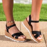 Sandale cu platforma dama negre Frisa