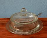 Zaharnita veche din sticla Art Deco Sucrier (2)