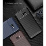 Husa silicon carbon 4 Samsung J6 plus (2018) - 3 culori, Albastru, Maro, Negru