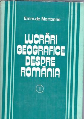 Emmanuel de Martonne - Lucrari geografice despre Romania (Alpii Transilvaniei) foto