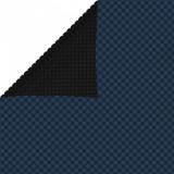 Folie solară plutitoare piscină, negru/albastru, 600x400 cm PE, vidaXL