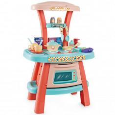 Bucatarie de jucarie pentru copii cu sunete si 22 accesorii