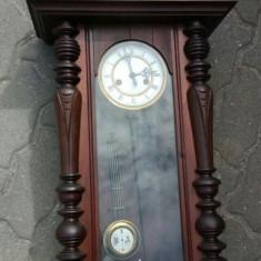 Ceas antic marca Gustav Becker pendula de perete perioada anilor 1900 început