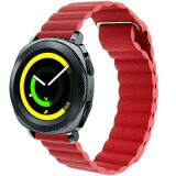 Curea piele Smartwatch Samsung Gear S2, iUni 20 mm Red Leather Loop