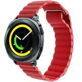 Cumpara ieftin Curea piele Smartwatch Samsung Gear S3, iUni 22 mm Red Leather Loop