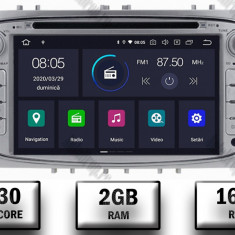 NAVIGATIE FORD FOCUS MONDEO S MAX Transit Tourneo ANDROID 9 Quadcore PX30 2GB RAM + 16GB ROM CU DVD 7 INCH AD BGWFORDO7P3 S