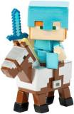 Figurina Minecraft Deluxe Alex On Armored Horse