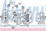 Compresor clima / aer conditionat VOLVO S60 II (2010 - 2016) NISSENS 89350
