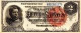 2 dolari 1886 Reproducere Bancnota USD , Dimensiune reala 1:1