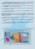 Bancnota 2000 Lei 1999 Eclipsa in folder UNC