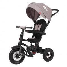 Tricicleta cu roti gonflabile de cauciuc Qplay Rito Air Gri
