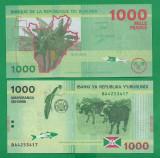 = BURUNDI - 1000 FRANCS – 2015 -  UNC   =