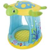 Piscina gonflabila pentru copii, Bestway 54122, parasolar si podea gonflabila Mania Tools