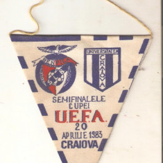 Fanion Universitatea-Benfica 20 aprl.1983