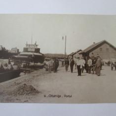 Carte postala foto portul din Oltenita,circulata 1933, Fotografie