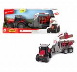 Tractor cu remorca Dickie Toys, Massey Ferguson 8737