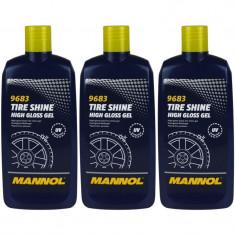 Pachet 3 Buc Mannol Gel Luciu Anvelope Tire Shine 500ML 9683