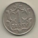POLONIA  1   ZLOT   ZLOTY  1929  [3]  VF ,  livrare  in  cartonas