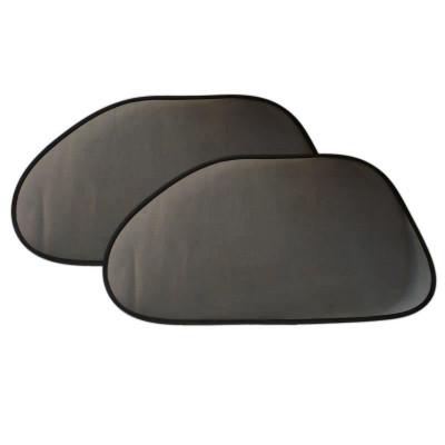 Parasolare laterale-spate, negru, 2 bucati foto