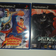 LOT 2 Jocuri: Superman + Batman - PS 2 [Second hand], Actiune, 3+, Single player