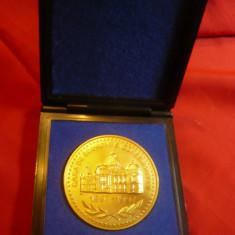 Placheta -100 Ani de la infiintarea CEC 1897-1997 ,bronz ,d=6cm