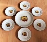 Set / Serviciu - fructe / desert - portelan Bavaria - 6 persoane - 1965, Decorative