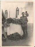 Fotografie militar roman poligon trageri artilerie Dadilov 1935 poza veche