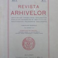 REVISTA ARHIVELOR SUB INGRIJIREA D-LUI CONSTANTIN MOISIL , VOL I , ANUL II , NR. 3 , 1926