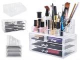 Suport Organizator pentru Cosmetice si Bijuteri, 16 Compartimente, 4 Sertare