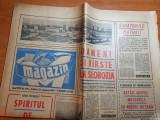 magazin 24 noiembrie 1973-art. si foto orasul slobozia,ilie nastase lider FILT