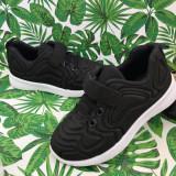 Cumpara ieftin Adidasi negri cu scai usori pantofi sport pt fete / baieti 24 25 27 cod 0746