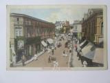 Carte postala circulata 1912 Salutari din Craiova:geamgiu,școala dans,magazine..