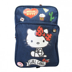 Ghiozdan gimnaziu Pigna Hello Kitty denim albastru HKRS1820-3