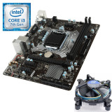KIT Kaby Lake Procesor Intel Core I3 7100 3.9GHz, Placa de Baza MSI H110M...