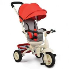 Tricicleta cu Sezut Rotativ si Functie MP3 Queen Rosu, Cangaroo