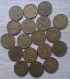 Lot 18 monede 20 LEI 1991, 1992, 1993