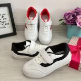 Cumpara ieftin Adidasi albi negri cu scai sclipici tenisi pantofi sport fete 26 27 28 29 30 31