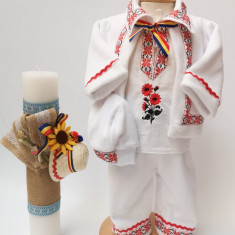 Set Traditional Botez Costumas baiat Lumanare baiat 2