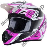 MBS Casca motocross AFX FX17 Force, L, negru/violet/alb, Cod Produs: 01105258PE