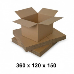 Cutie carton 360x120x150, natur, 3 starturi CO3, 435 g/mp