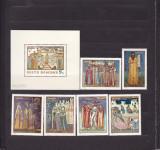 ROMANIA 1970  LP 730 LP 731  FRESCE  SERIE+COLITA  DANTELATA  MNH, Nestampilat
