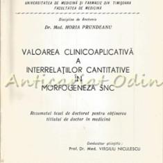 Valoarea Clinicoaplicativa A Interrelatiilor Cantitative In Morfogeneza SNC