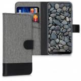 Husa pentru HTC Desire 19 Plus / Desire 19s, Textil, Gri, 51899.22