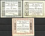 !!! AUSTRIA - LOT COMPLET NOTGELD ST. THOMAS 1920 - UNC / CELE DIN IMAGINE