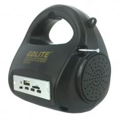 Kit sistem solar Gdlite GD-8009, 20 x LED, slot USB