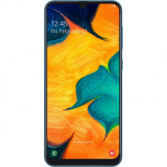 "Smartphone Samsung Galaxy A30 A305FD 64GB 4GB RAM Dual Sim 4G Blue, Neblocat, 6.4"", Android OS"