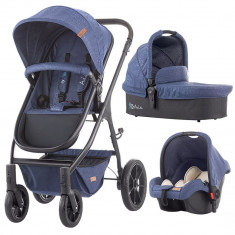 Carucior Chipolino Avia 3 in 1 blue linen