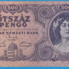 (1) BANCNOTA UNGARIA - 500 PENGO 1945 (15 MAI 1945)