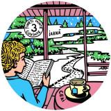 Coaster- Iarnă, ceai, cărți